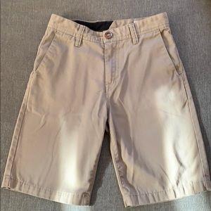 Volcom Tan Boys shorts. Size 26